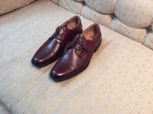 Clarks Original Kovit Cap Toe Men's Leather Shoes (Burgundy) Size 13.