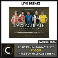 2020 PANINI IMMACULATE SOCCER 3 BOX (HALF CASE) BREAK #S120 - RANDOM TEAMS -