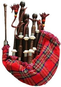 RI | GREAT HIGHLAND BAGPIPE | MADE OF ROSEWOOD | PROFESSIONAL