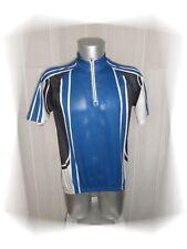 C - Maillot Cycliste Bleu Blanc Noir Gris Shamp  Taille XL