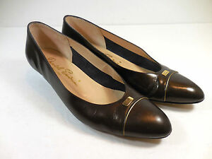"David Evins Brown Womens Low Heels Career Executive 1.5"" Sz 7 AA Italy Signature"