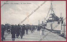 TRIESTE CITTÀ 200 MOLO - NAVE AUDACE - SHIP MARINA NAVIGAZIONE Cartolina V. 1922