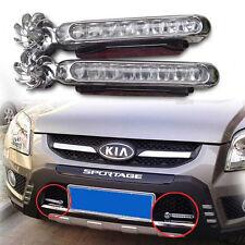 1 pair Car 8LED Wireless Wind Turbine Powered Waterproof DRL Headlight Fog Light