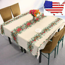 (US) Christmas tree tablecloths table cloth rectangular new year linen table
