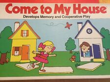 "RARE MILTON BRADLEY BOARD GAME""COME TO MY HOUSE""  1974"