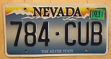 """NEVADA SUNSET GRAPHIC AUTO LICENSE PLATE """" 784 CUB """" NV BEAR BEARS CHICAGO CUBS"""