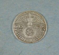 1937-d  NAZI GERMANY 2 MARK COIN - SWASTIKA - SILVER