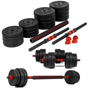 Vinyl 30kg Dumbbells Set Fitness Free Exercise Home Gym Bicep Weight Training