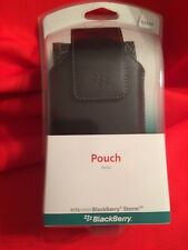 """BRAND NEW!!! Blackberry """"Storm"""" Pouch: Black Leather"""