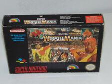 WWF Super WrestleMania Super Nintendo Snes / Pal. / Jeu en Boite Sans Notice!