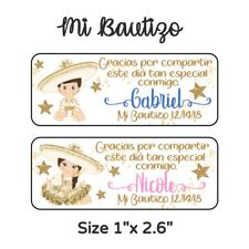 60 Pc Mi Bautizo Charro Stickers for Party Favors & Goodie Bags, Recuerdos