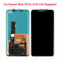 Black for Huawei Mate 20 Pro Display LCD Touch Screen Digitizer with Fingerprint