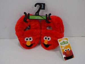 BRAND NEW SESAME STREET ELMO TODDLERS SLIPPERS SHOES SIZE 3 RED
