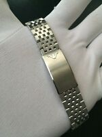 """Band / Gurt / Armband Uhr Wittnauer / Longines 19MM Stahl - New Old Lager 1970 """""""