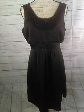 A Pea in the Pod Large Maternity Dress Black Sleeveless Work Career Cocktail EUC