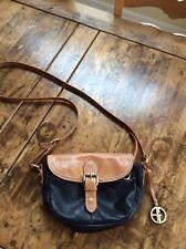 womens handbags and purses/Giani Bernini Black & Brown Leather Cross Body Purse