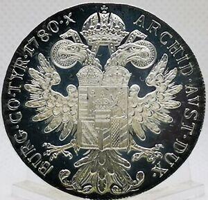 Tallero maria teresa austria 1780 PROOF ARGENTO GRAMMI 28