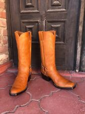 Cognac Britney Stitch Custom Hand Made Cowboy boots CABOOTS Men's Size 8E