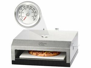 Four à pizza pour barbecue avec pierre de cuisson et thermomètre intégré - Rose