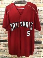 MEN'S NATIONALS MLB JERSEY RED Size Large