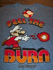 VINTAGE STYLE SUPER MARIO BROS. FIRE POWER NES Nintendo T-Shirt SMALL NEW w/ TAG
