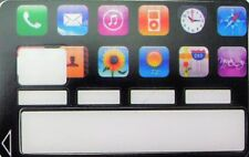 Autocollant Carte Bancaire - Icônes Smartphone - Sticker CB - Skin