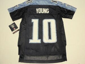 New Vince Young Tennessee Titans Reebok NFL Jersey Boys Small (8) #10 with Tags