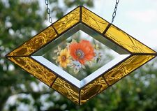 Bleiverglasung Fensterbild Glasmalerei - Facette m. Echt- Antikglas in Tiffany