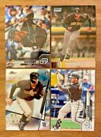 Trent Grisham 2020 Topps Rookie Card Lot of 4 Chrome Finest SCC Update Padres RC