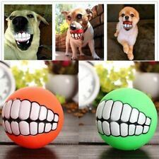 Funny Dog Teeth Toy Ball Puppy Dogs Ball PVC Chew Sound Squeak Play Fetching