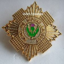 SCOTS GUARDS BADGE - Enamel - Safety Pin Fixing - Excellent Quality