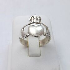 Sterling Silver Irish Celtic Claddagh Ring Unisex  Sz 9.75