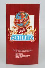 Original Schlitz Beer Globe Cash Register Sign Dealer Advertising Card Old Stock