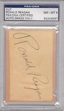 1938 RONALD REAGAN Autograph - very early signature example - PSA 8 (NM-MT)