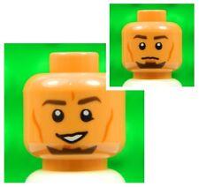 Lego HEAD dual sided Kanan Jarrus [x1] for minifigures star wars tan man boyNEW
