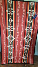 New Pendleton Rim Rock Saddle Blanket Coral USA Wool Cotton 66x39