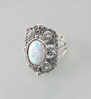 9927657 925er Silber Ring Opal Markasiten Gr.54/55
