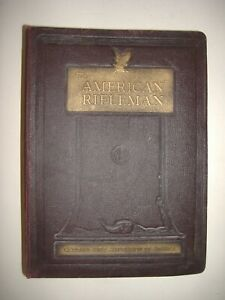 THE AMERICAN RIFLEMAN MAGAZINE LEATHER BINDER WITH COMPLETE 1965 SET
