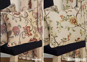 """17"""" / 43cm Woven Tapestry Jacquard Cream / Natural Floral Cushion or Covers"""