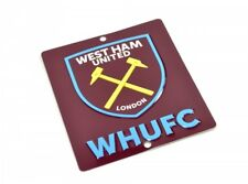 West Ham United Crest Badge Official Football Club 3D Metal Window Wall Sign