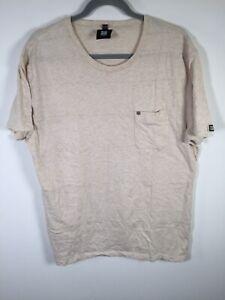 Insight Men's Beige T Shirt Size XL Short Sleeve Cotton good condition