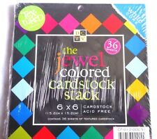 DCWV The Jewel Coloured Textured Pad 6in x 6in 36 Sheets Cardstock or Scrapbook