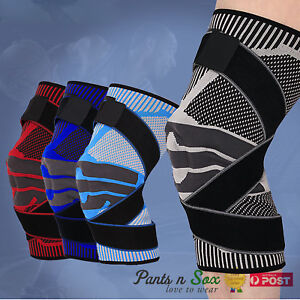 3D Design Knee Brace Breathable Sleeve Support Gym Running Jogging Sports