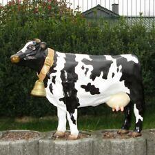 KUH AMALIA 100 cm schwarz weiß Deko Garten Tier Figur BAUERN HOF Milch Vieh