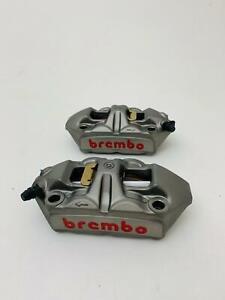 pair front brake brembo radial calipers M4 for ducati guzzi aprilia 100 mm NEW