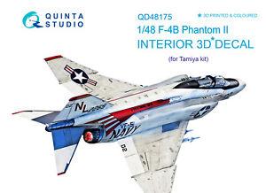 Quinta's QD48175 1/48 F-4B 3D-Printed & coloured Interior (for Tamiya kit)