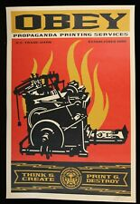 SHEPARD FAIREY ♦ Printing Press ♦ GROSSE LITHOGRAPHIE SIGNIERT OBEY GIANT MINT
