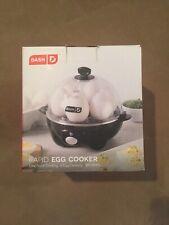 DASH Rapid Egg Cooker, 6 Eggs, Electric Poacher Steamer Boiler, Black (DEC005BK)