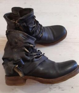 AS 98 Airstep Ankle Leather Boho Biker Boots EUR 36