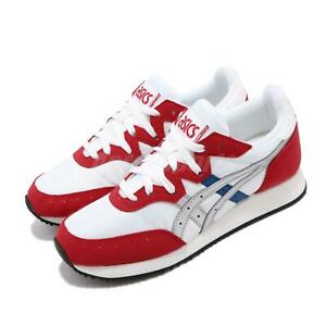 Asics Tiger Tarther OG White Red Silver Womens Retro Running Shoes 1192A146-100